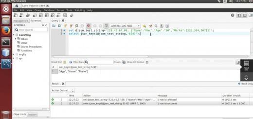 MySQL 5.7: Extract Keys from JSON Object using MySQL