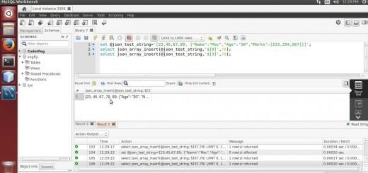 MySQL 5.7: Insert values in JSON array using MySQL