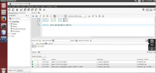 MySQL 5.7: Merge JSON data using MySQL