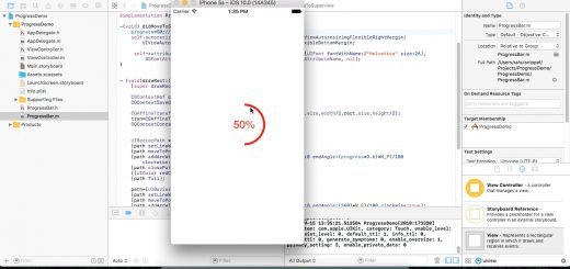 IOS Circular Progressbar using Objective C (cocoa framework)